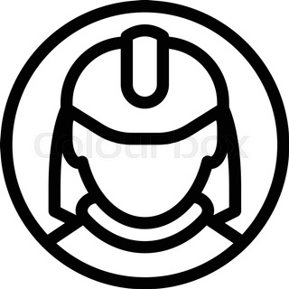 320x320 Fireman Or Firefighter Profession Icon. Fireman In Firefighter
