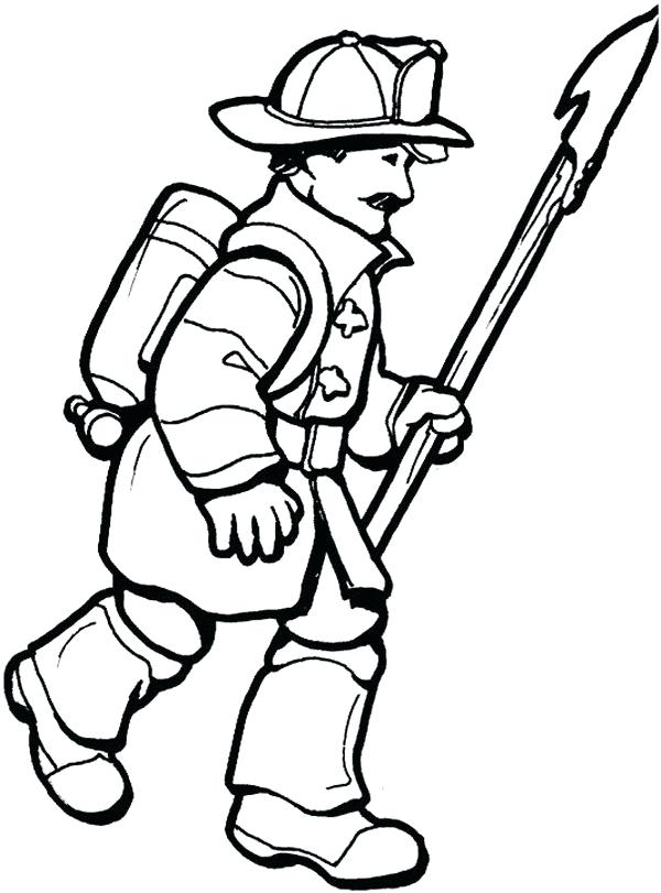 600x811 Fire Fighter Coloring Page Firefighter Firefighter Helmet Coloring
