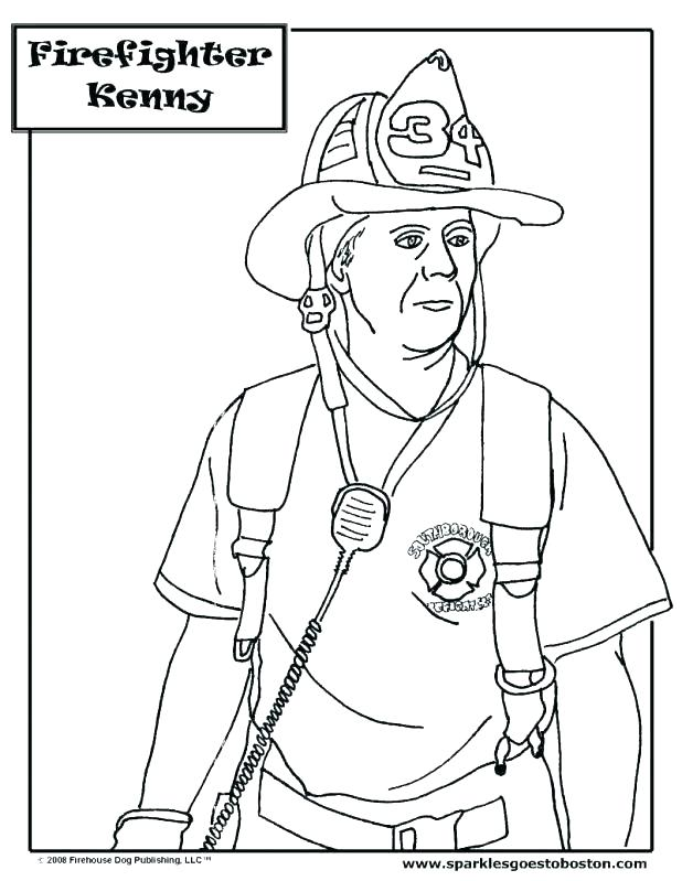 618x799 Fire Fighter Coloring Pages Firefighter Coloring Books