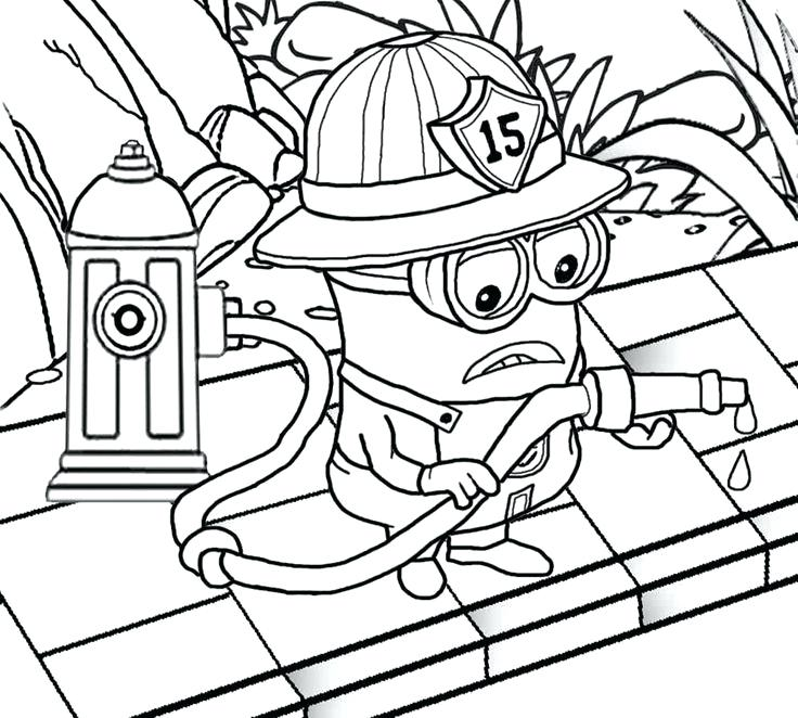 736x662 Firefighter Coloring Page Download Childrens Fire Truck Coloring