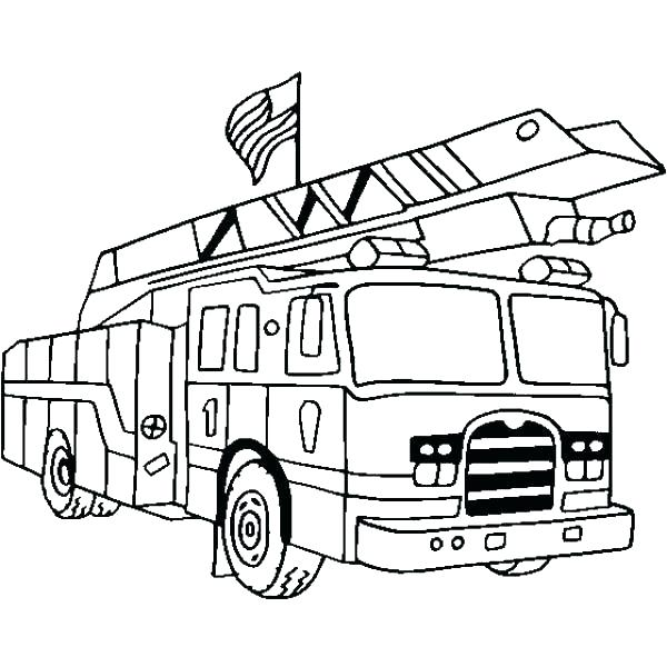 600x600 Beautiful Fireman Coloring Pages Image Fire Sheets Page Truck