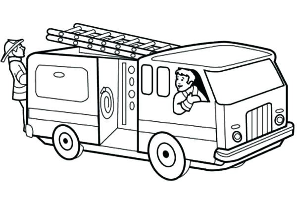 600x408 Fireman Coloring Pages Brown Fire Trucks Truck Color Page Dog