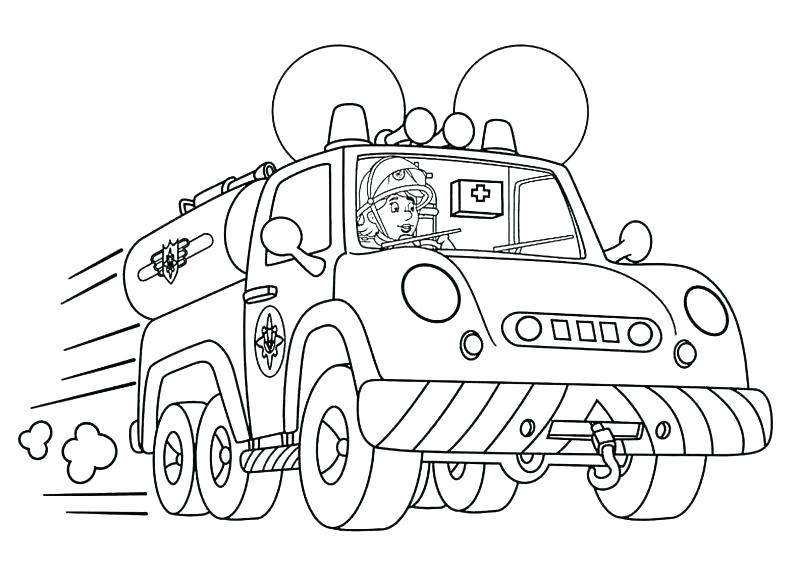 805x575 Free Fire Truck Coloring Pages Print 98 In Addition