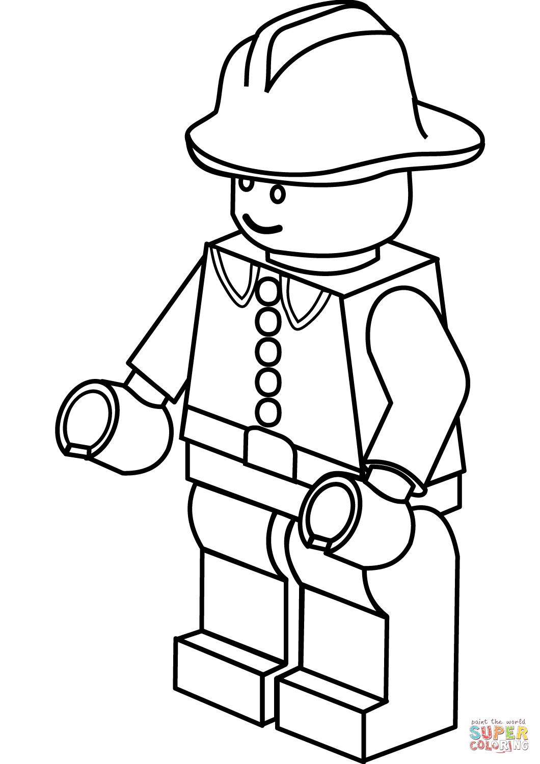 1060x1500 Lego Firefighter Coloring Page Free Printable Coloring Pages