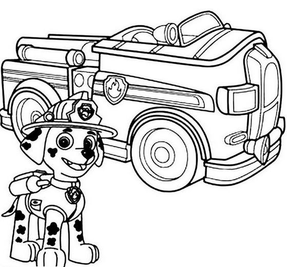 559x521 Paw Patrol Marshal Firefighter Truck