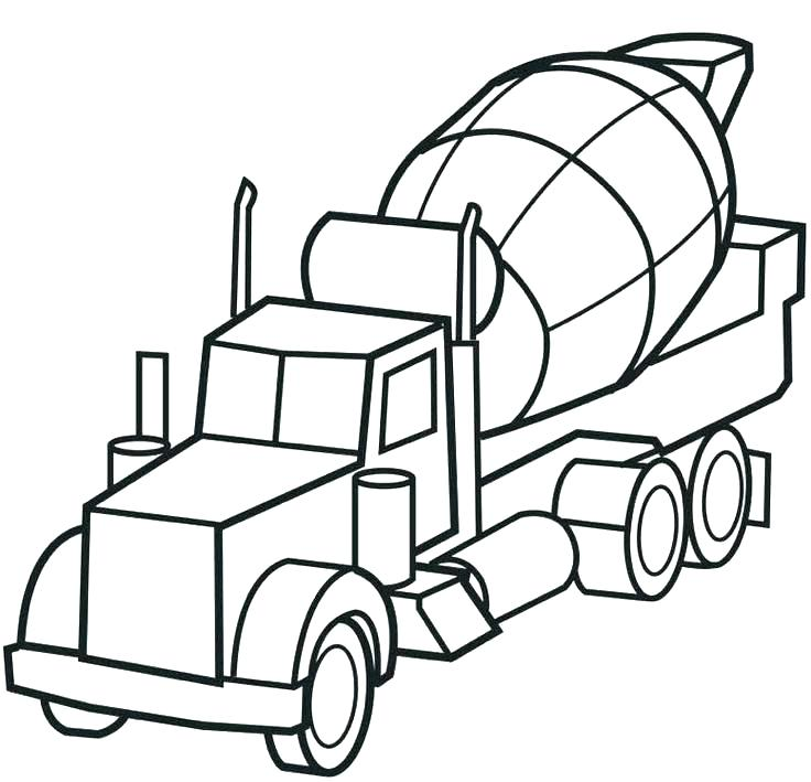 736x709 Best Fire Truck Coloring Page Print F Is For Twisty Noodle 3 Pages
