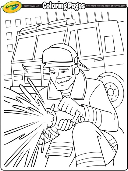 420x560 Fire Fighter Coloring Pages