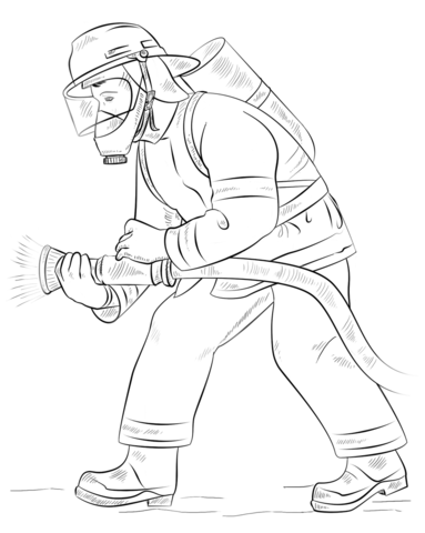383x480 Fireman Coloring Page Free Printable Coloring Pages