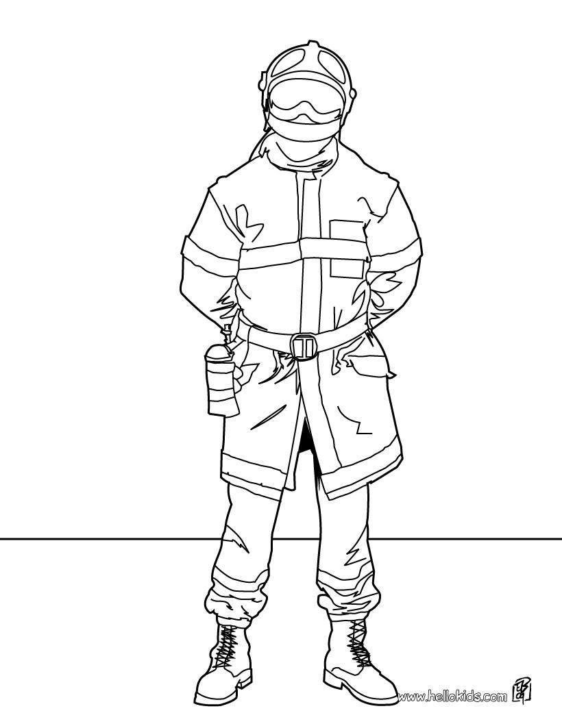 820x1060 Fireman Coloring Pages