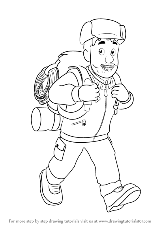 565x800 Learn How To Draw Moose Roberts From Fireman Sam (Fireman Sam