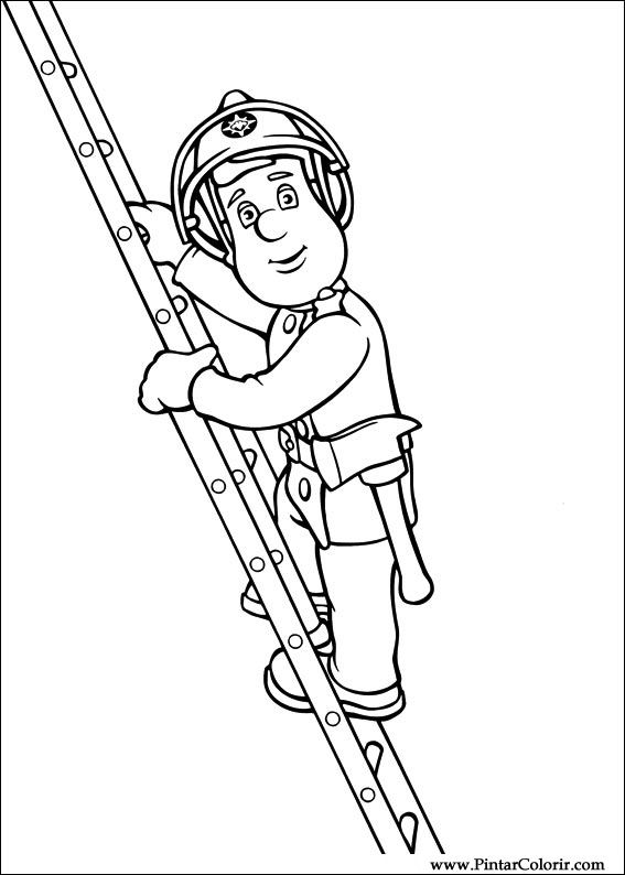 567x794 Drawings To Paint Amp Colour Fireman Sam