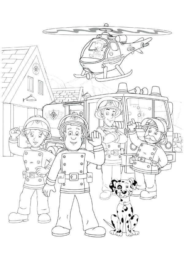 600x840 Epic Fire Station Coloring Pages Print Fireman And All Officer