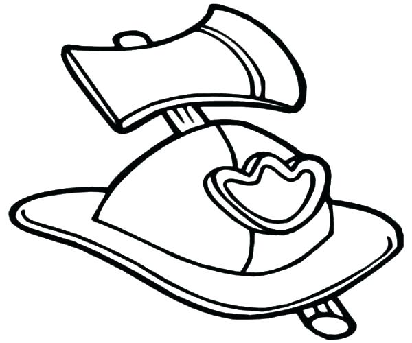 600x500 Firefighter Hat Coloring Page Fire Hydrant Coloring Page Fireman