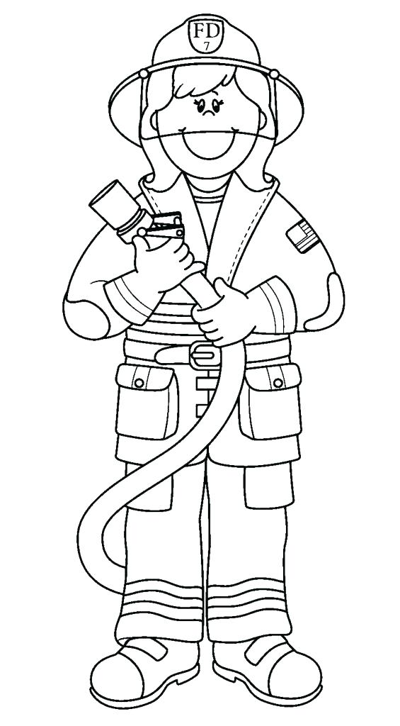 565x1024 Firefighter Hat Coloring Page Printable Fireman Coloring Pages