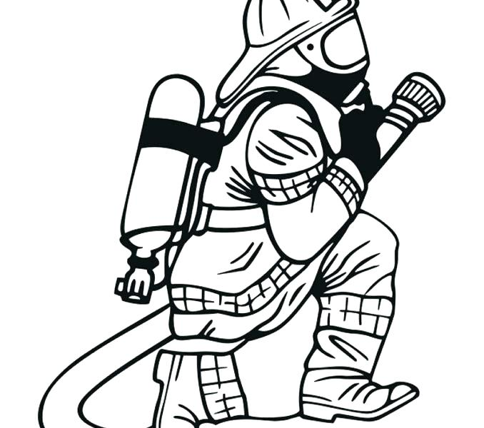 678x600 Fireman Coloring Pages Fireman Checking Fire Truck Engine Coloring