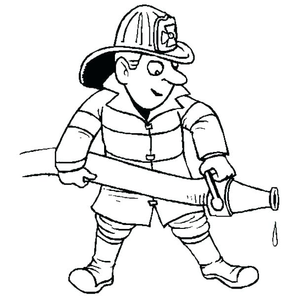 600x600 Beautiful Fireman Coloring Pages Image Firefighter Hat Page