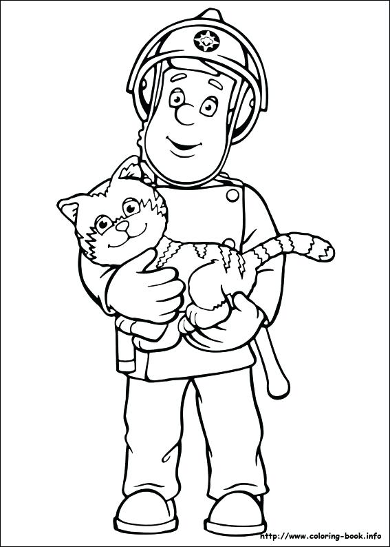 567x794 Fireman Hat Coloring Pages Firefighter Fighting Attire Best
