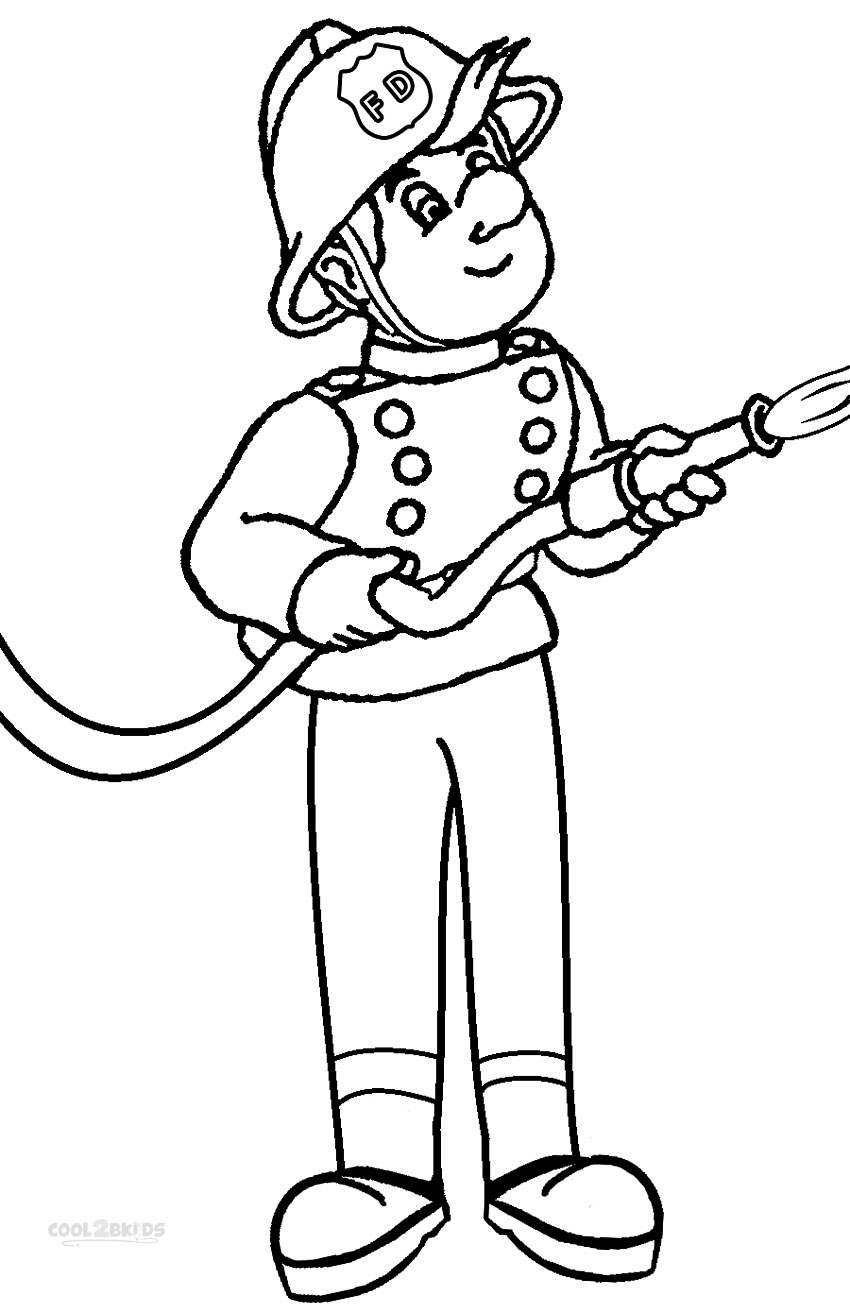 850x1313 Free Printable Fireman Coloring Pages Cool2bkids