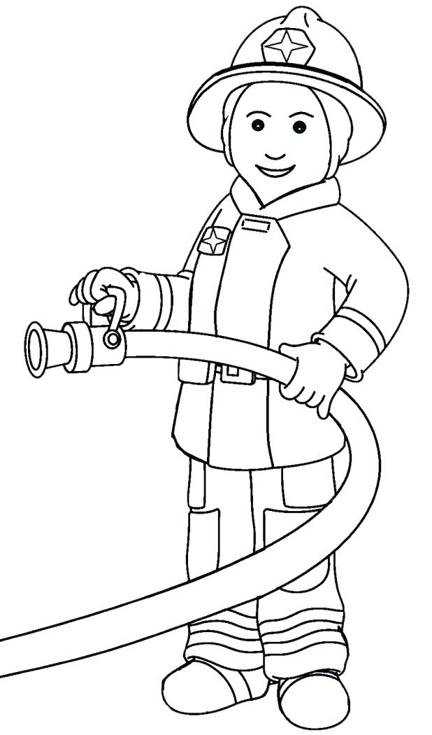 618x1050 Firefighter Coloring Book Genesisar.co