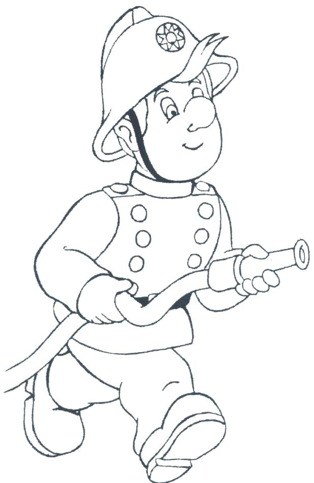 618x949 Coloring Page Firefighter Top Fire Fighter Coloring Pages Page