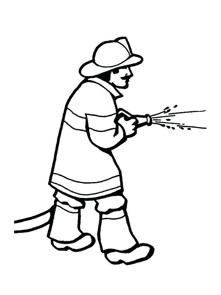 768x1024 Printable Firefighter Coloring Pages For Kids. Fire Hat Images
