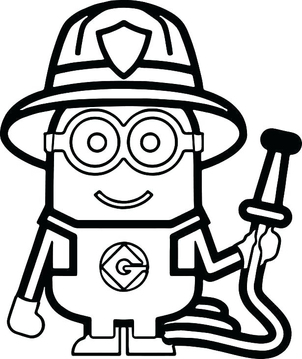 615x731 Firefighter Coloring Pages Printable Firefighter Coloring Pages