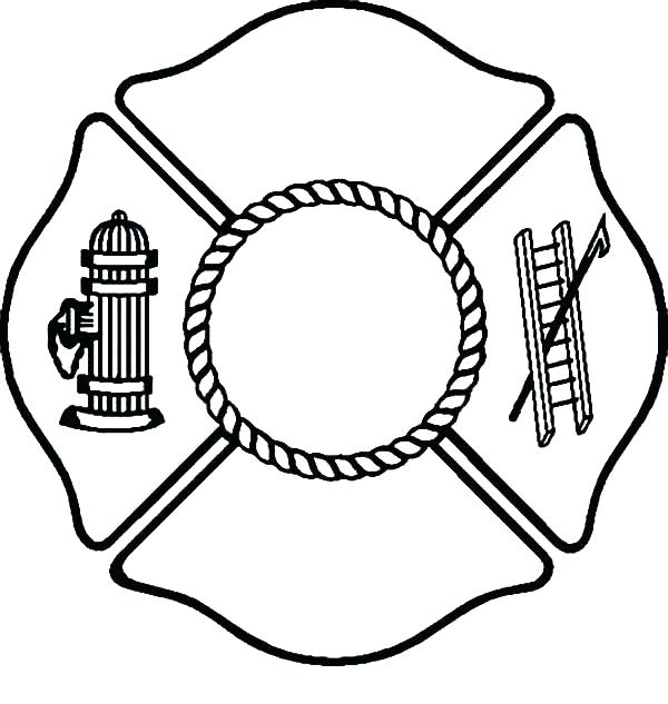 600x633 Firefighter Hat Coloring Page Fire Hat Fire Helmet Coloring Page
