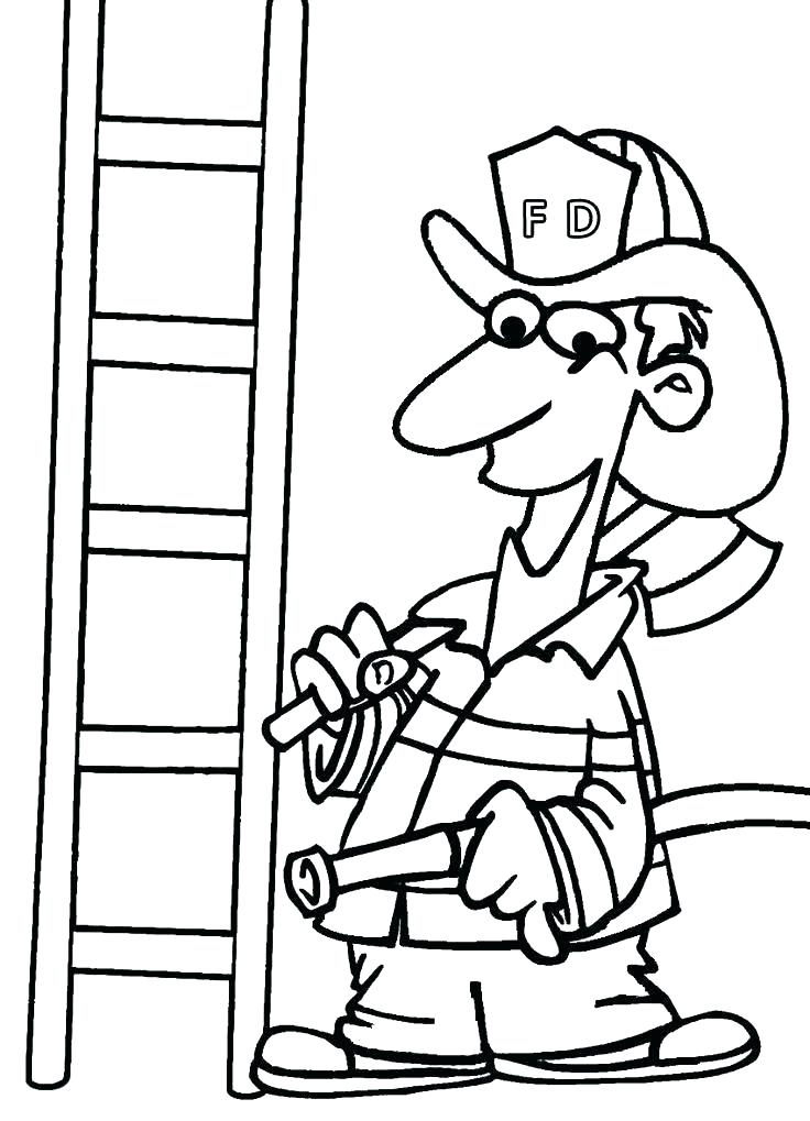 736x1019 Firefighter Hat Coloring Page Fireman Hat Coloring Page Fireman