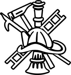 236x250 Maltese Cross, Maltese Cross Firefighter Axe Ladder