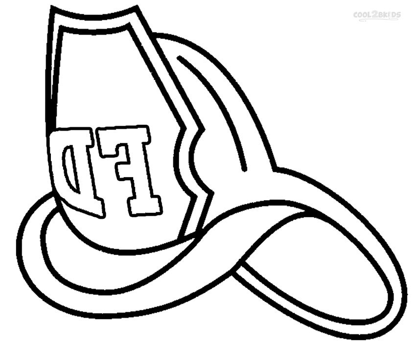 850x703 Firefighter Hat Coloring Page Coloring Page For Kids