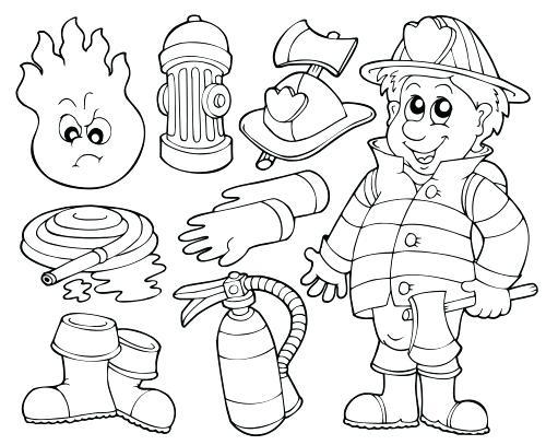 500x407 Fireman Coloring Page Fireman Coloring Pages On Book Info Of Sheet