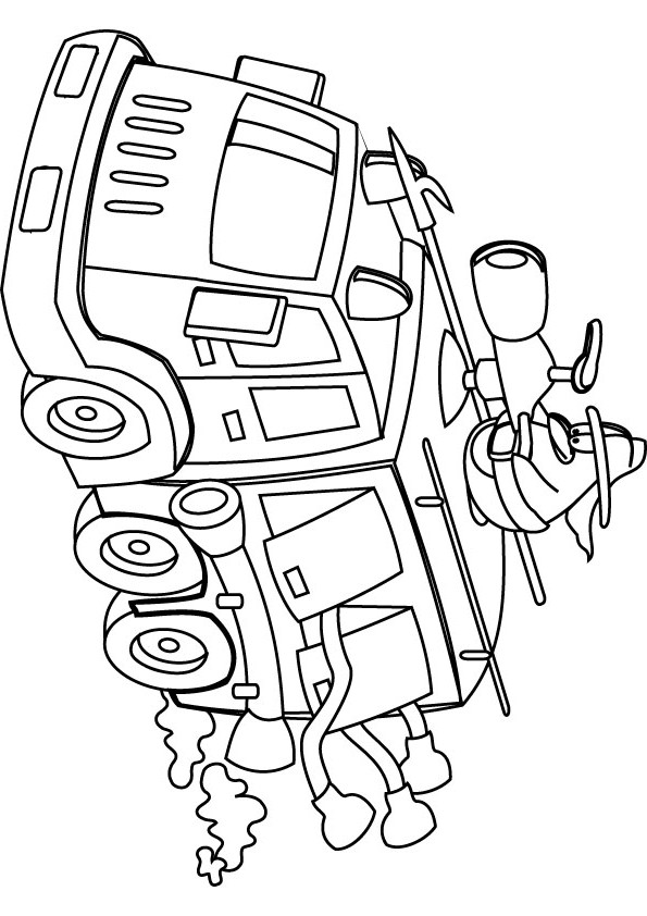 595x842 Free Fire Truck Coloring Pages