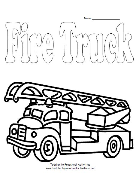 463x599 The Best Firetruck Coloring Page Ideas