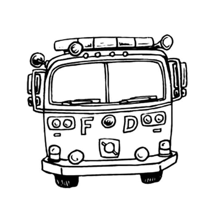 700x728 Truck Coloring Pages