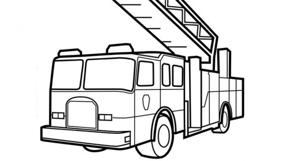960x539 Coloring Pages Cool Fire Truck Coloring Pages Page Fire Truck