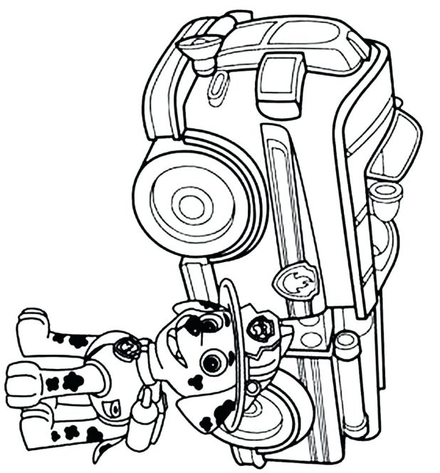 618x664 Coloring Charming Fire Truck Pictures To Color. Fire Truck