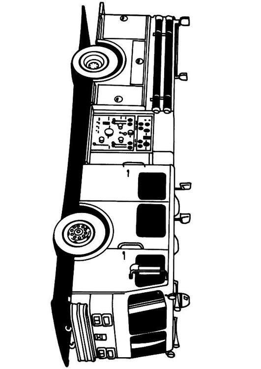 531x750 Coloring Page Firetruck