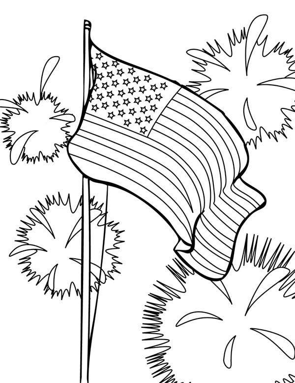 600x777 Independence Day, Flag And Fireworks On Independence Day