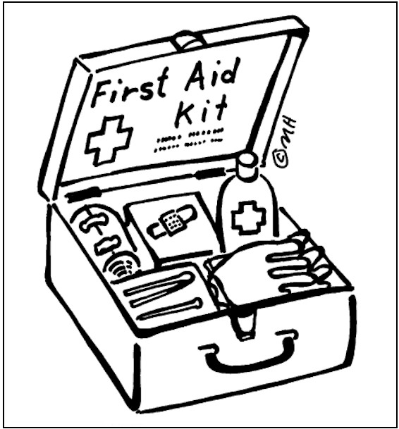 566x609 First Aid Coloring Page From Hand It Out
