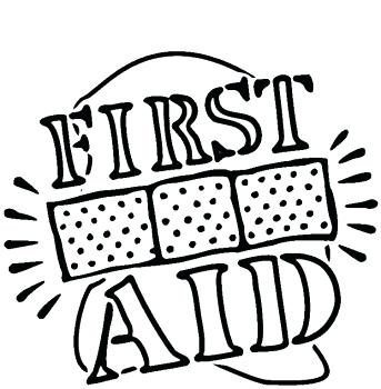 343x350 First Aid Coloring Pages First Aid Coloring Page Girl Scout Badge