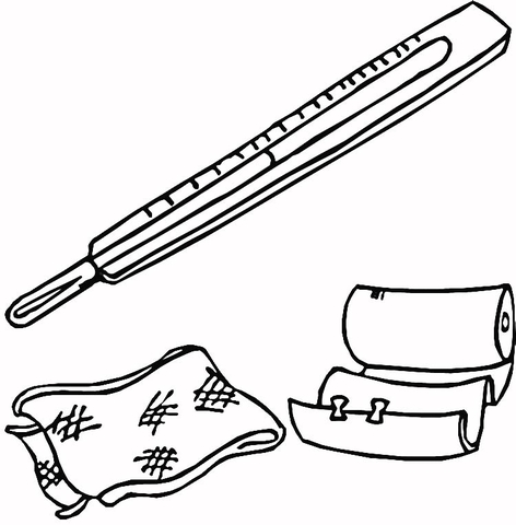 472x480 First Aid Kit Coloring Page Free Printable Coloring Pages
