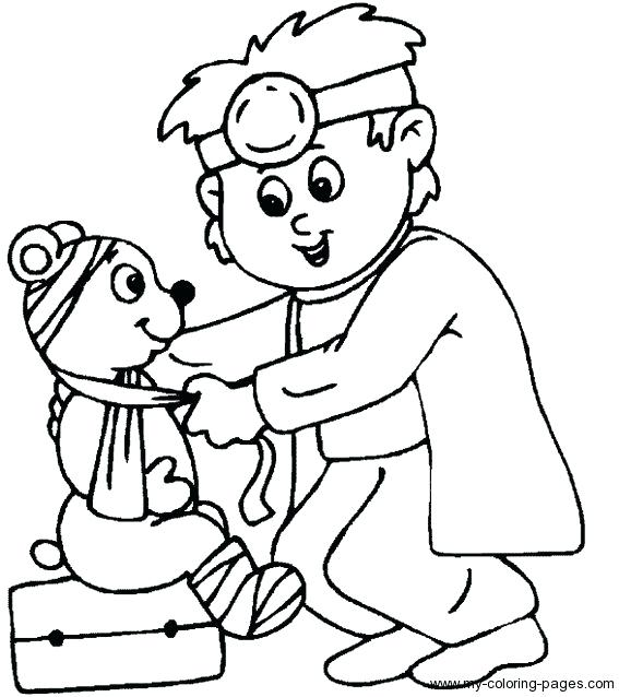 567x638 Inspirational First Aid Coloring Pages Kids Inspiring Doctor Page