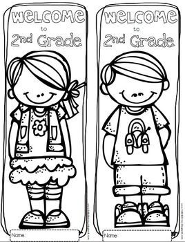 268x350 First Day Of 2nd Grade Coloring Page For Beatiful Photo Free Math