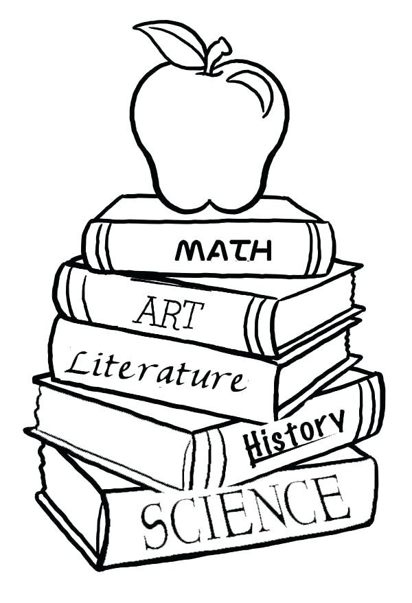 600x879 First Day Of School Coloring Page Apple First Day Of School Sign