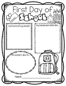 270x350 First Day Of School Activities Back To School Worksheets Free