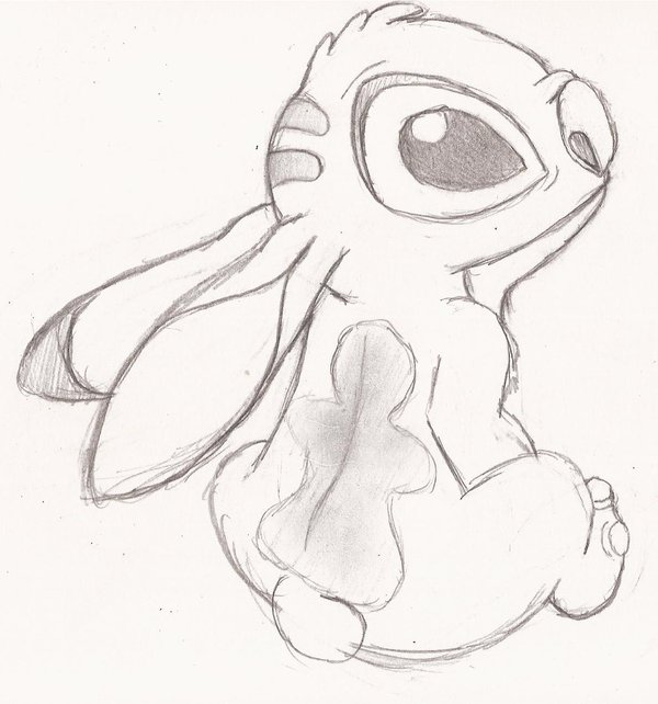 600x642 First Time Sketch Of Stich By Speckledmindphoenix