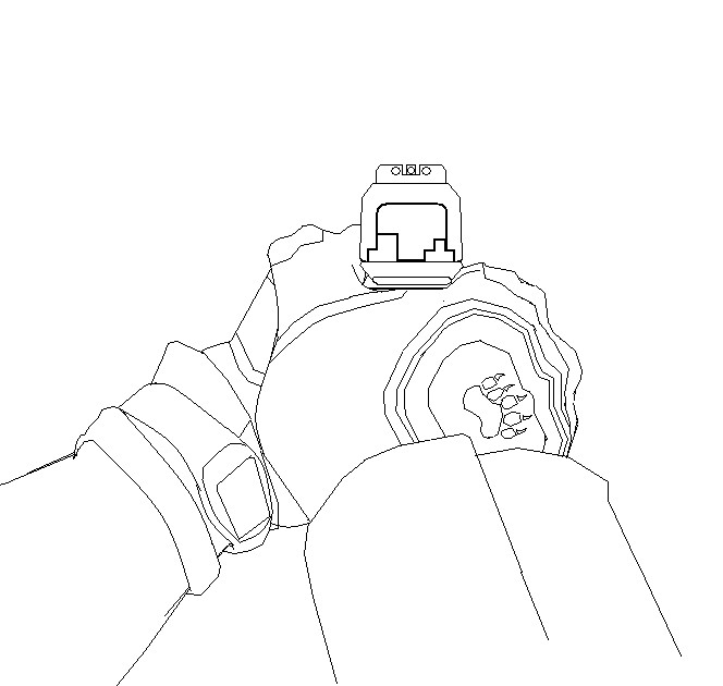 664x630 First Person Pistol Sights(No Color) By Incindiaryartist