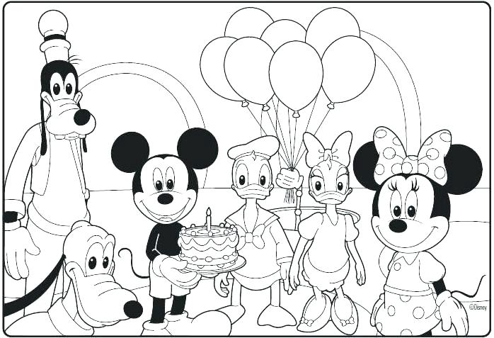 698x477 Coloring Pages For Birthdays Great Mickey Mouse Clubhouse Coloring
