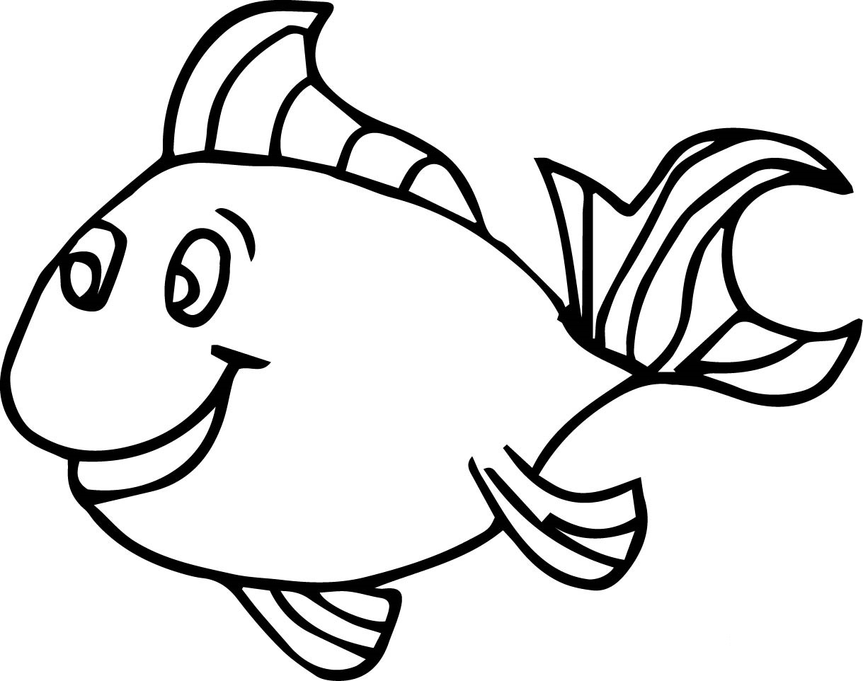 1219x962 Fish Coloring Pages For Kids