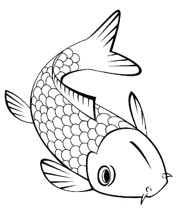 600x707 Ocean Fish Coloring Pages Fish Template Flounder Fish Coloring